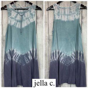 JELLA C Sleeveless Tie-Dye Dress - Size L